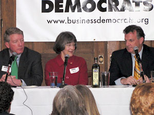 Three of the DFL candidates for governor -- Steve Kelley, Becky Lourey, and Kelly Doran -- faced off at a forum in St. Louis Park. Another DFL candidate, Mike Hatch, did not attend