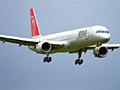 Northwest plane in flight