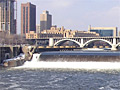 Mississippi in downtown Minneapolis