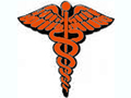 The caduceus, a symbol of the medical profession.