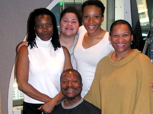 Cast of Constant Star.  L-R: Regina Marie Williams, Thomasina Taylor Petrus, Christiana Clark, Jevetta Steele, and Gary Hines.