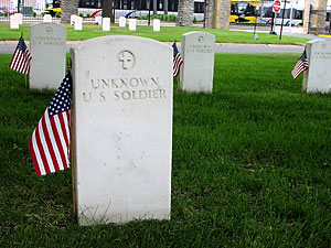 Unknown soldier markers, Ft. Snelling National Cemetery.