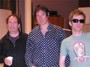 Pete Shelley, Steve Diggle, and Danny Farrant (not pictured: Tony Barber)