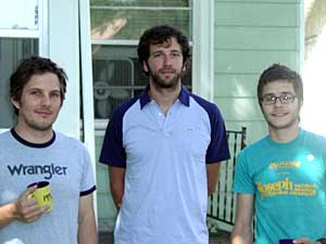 Members of the band Tapes 'n Tapes. Left to right: Matt Kretzmann, Erik Applewick and Jeremy Hanson.
