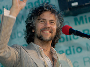 Wayne Coyne of the band Flaming Lips