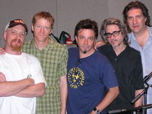 Frank Funaro, David Lowery,  Johnny Hickman,, Kenny Margolis, and Sal Maida of the band Cracker