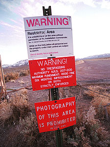 Military base known as area 51. locals claim that strange things