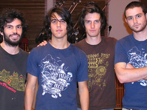 Justin Tenuto, Peter Arcuni, David Klein, and Zach Winter of Birdmonster