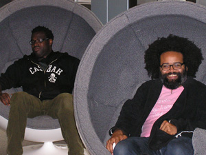 Tunde Adebimpe and Kyp Malone of TV on the Radio