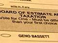 Sample runoff ballot