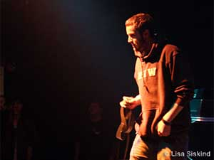 Sims, one of the members of Doomtree, shown at a recent performance.