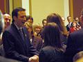 A gubernatorial greeting