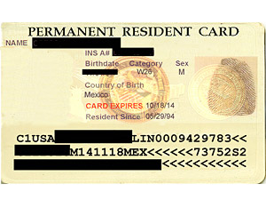 Alien Number On Permanent Resident Card also Permanent Resident Card ...