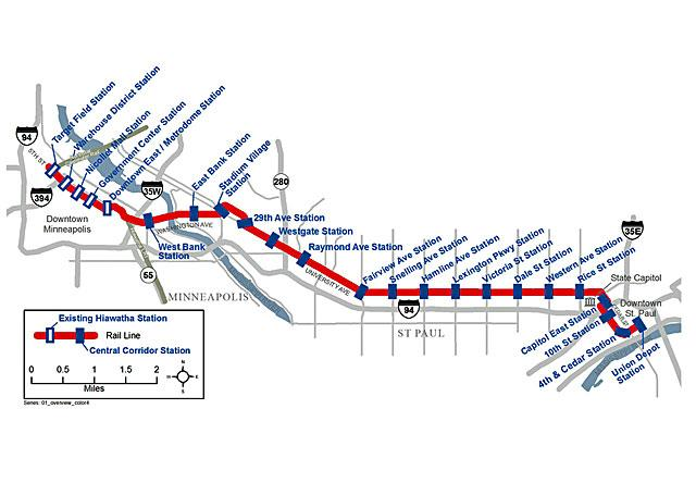 Minneapolis Light Rail Map St Paul