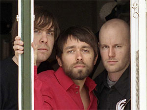 Peter Moren,  Bjorn Yttling, and John Eriksson of Peter Bjorn and John