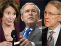 Reid, Bush, Pelosi