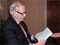 University of Minnesota president Robert Bruininks