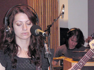 Melissa Elias (bass) and Nathan Jerde (percussion) of The Ponys