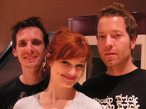 Stephen, Alison Sudol, and Daxx of A Fine Frenzy