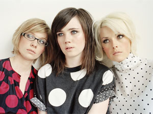 RiotBecki, Rosay, and Gwenno of The Pipettes