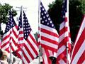 Flag-lined street