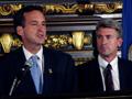 Gov. Tim Pawlenty and Minneapolis Mayor R.T. Rybak