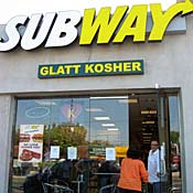 Kosher Subway shop in Los Angeles
