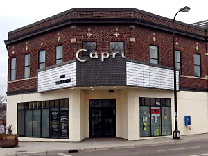 The Capri Theater as it appeared in 2007.  Now a jazz venue and community gathering space, the Capri Theater is set to expand onto three neighboring properties if Minneapolis City Council approves selling city land to the theater's owner and operator.
