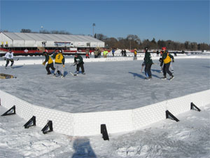 The U.S. pond hockey association holds its annual tournament in Minneapolis.