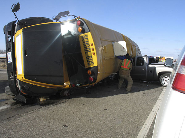 Photo: #The school bus crash near Cottonwood, Minn. in February killed four