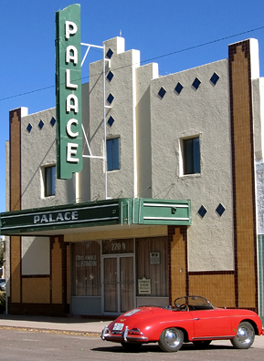 The well-preserved Palace Theater in Marfa, Texas, is now the home and studio of illustrator David Kimble. Marfa is a destination for artists, due in large part to the arrival of Donald Judd in 1971.