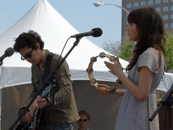 M. Ward and Zooey Dschanel of She and Him live at SXSW