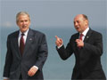 President Bush and Romanian President Basescu