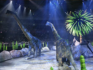 Brachiosaurs will stand 30 feet tall.