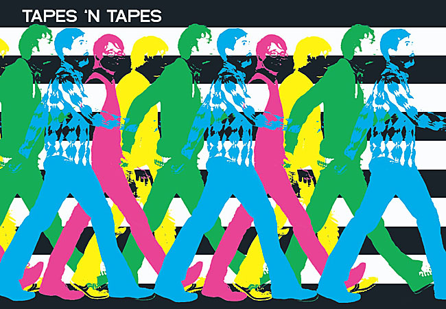 Tapes 'n Tapes album cover for 'Walk it Off.'The new cd was engineered by Flaming Lips producer Dave Fridmann.