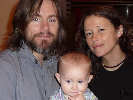 Johnny Irion, Sarah Lee Guthrie, and daughter Sophie
