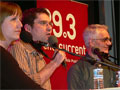 Kara McGuire, Host Steve Seel, and Richard Todd