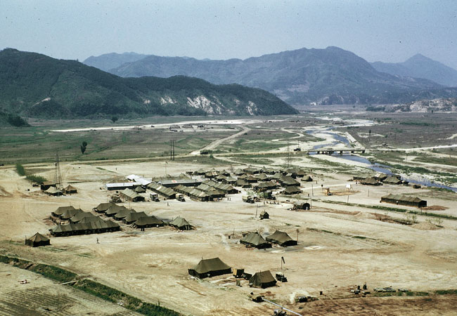 The 8063rd Mobile Army Surgical Hospital (MASH) 10 miles from the front lines, South Korea, 1952.