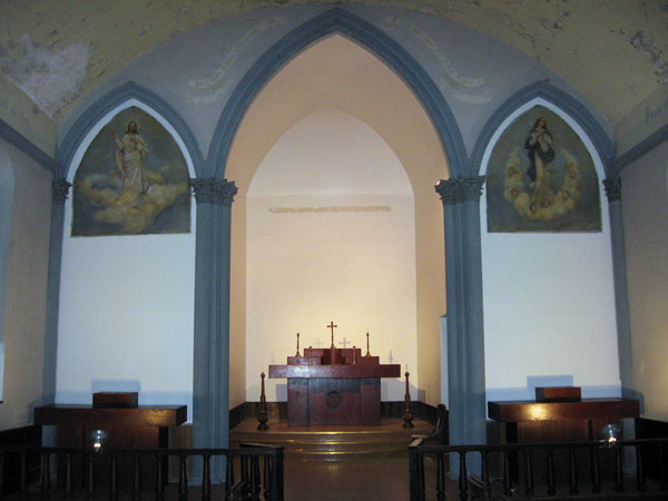 The interior of St. Rose of Lima Catholic Church.