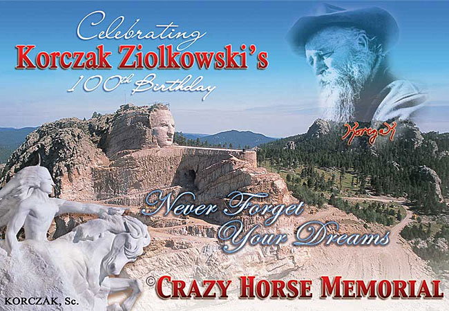 The Crazy Horse monument's 60th anniversary.