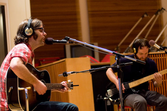 Ben Gibbard and Nick Harmer of Death Cab for Cutie