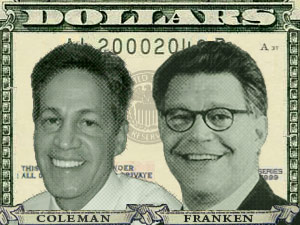 The race between Republican Sen. Norm Coleman and DFL challenger Al Franken leads the nation in dollars spent on the campaign.
