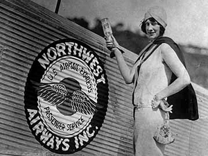 Christening of a Northwest Airlines airmail express plane, 1926.