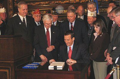 Gov. Pawlenty signed S.F. 3683 into law on May 12, 2008.  The bill increases the state's biodiesel standard (it also included language related to veterans and the military).