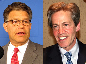 Sen. Norm Coleman, R-Minn., and DFL challenger Al Franken are both facing competitors within their own parties.