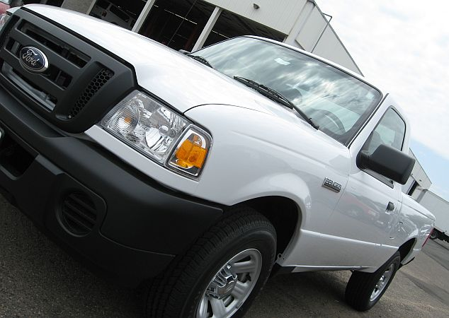 A Ford Ranger pickup truck for sale at a Twin Cities dealership.