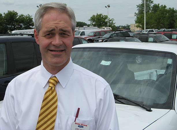 Jerry Bauer, general manager of Inver Grove Ford, says Ranger sales have become robust in recent months, as customers become more concerned with fuel efficiency.