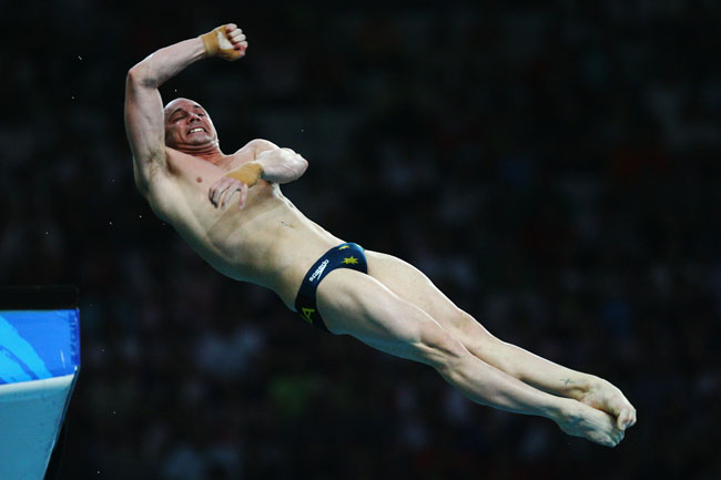 Mathew Helm of Australia competes during the Men's 10m Platform Final diving event held at the National Aquatics Center on Day 15 of the Beijing 2008 Olympic Games on August 23, 2008 in Beijing, China.