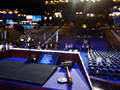 The podium at theDNC