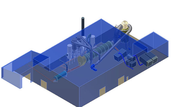 A 3-D model showing what the ore model at the Cliff's plant may look like.